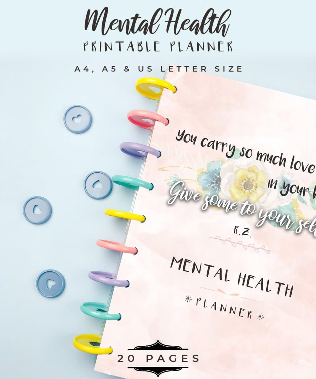 graphic about Printable Planner identified as Psychological Physical fitness Planner + 2019 Planner